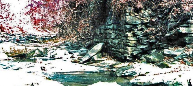 Remnants of the Bowen mill dam